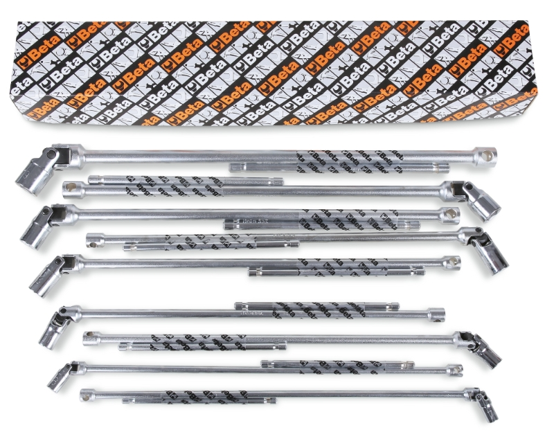 Set of 10 T-handle wrenches with swivelling hexagon sockets (item 952) category image